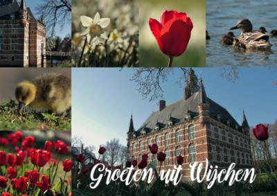 Ansichtkaart Wijchen met kasteel Wijchen | Wijchen=