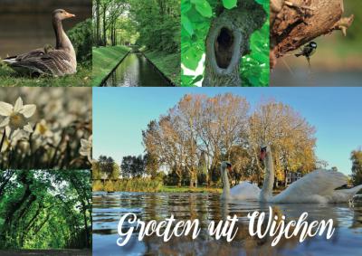 Ansichtkaart met flora & fauna in  Wijchen   Wijchen=