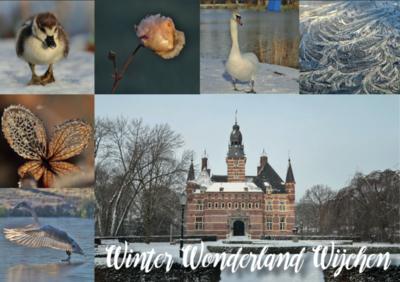 Ansichtkaarten Winter in Wijchen met Kasteel Wijchen er op | Wijchen=